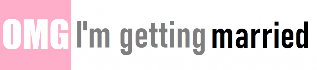 OMG Im getting married logo